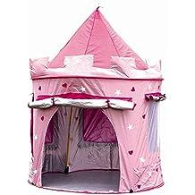 MaMaMeMo Tienda plegable CASTILLO Princesa (protegida CON AISLANTE para uso interior y exterior) Casita