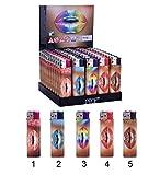 Briquet Electronique Lipstick Levre Prof 8 cm Rechargeable - Modèle 3 Arc en ciel...