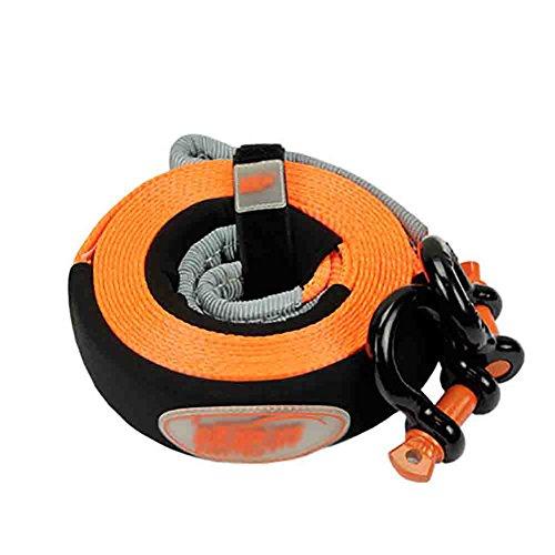 XIAOYA Gürtel Tow Recovery Seilwinde Snatch Strap Kit Mit D Ring Fesseln, Off Road ATV/Auto-Seil, Aufbewahrungstasche,5M5tons