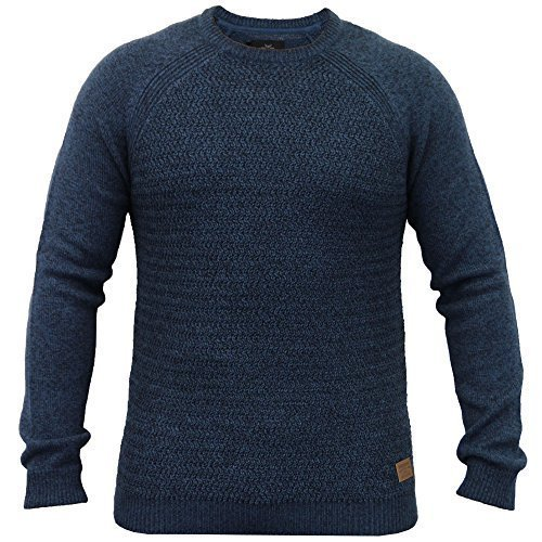 Hommes Pulls Threadbare Mélange Laine Gaufré Pull Tricot Pull D'hiver Neuf Sarcelle - IMV030PKA