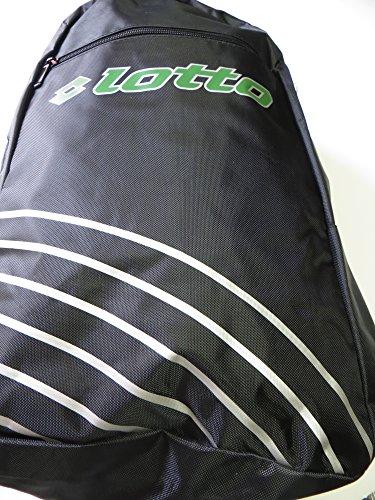 Lotto Vinto Backpack, mochila, Negro, Color blanco, verde, 48,5x 34x 16cm