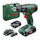 Bosch PSB 1800 LI-2 drill Sin llave Negro, Verde 1,3 kg - Taladro eléctrico (1 cm, 3 cm, 38 Nm, 38 Nm, 19 Nm, 400 RPM)