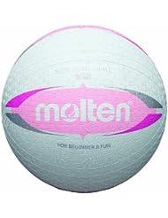 Molten 2V1550-WP - Pelota de balón prisionero (talla S, 20 cm), color blanco y rosa