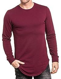 BLZ jeans - Sweat fin molleton bordeau homme oversize
