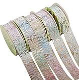 Joyfeel buy 5 Rolls DIY Mehrfarben Spitze Klebeband schön Washi Tape Masking Klebeband Selbstklebend Aufkleber Scrapbooking Papiere