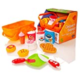 Milly & Ted Dessert Basket Soft Play Food Set - Childrens Pretend Toy Cakes & Biscuits