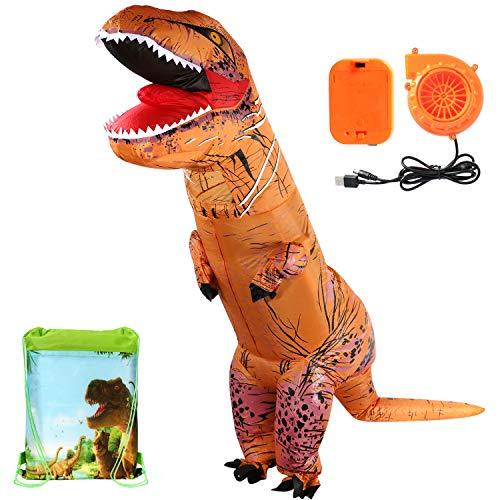 T-rex gonfiabile dinosauro costume con borsa con cordoncino costumi di halloween trex dinosauro costumi per adulti e bambini (per adulti)