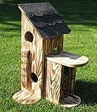 Garten und Holztrends Eichhörnchenfutterhaus-(Bausatz 1)-Eichhörnchen-Haus-Eichhörnchenhaus-Futterautomat-Futterhaus-Nistkasten-Kobel-Holzschindeldach-Vogelhaus-Eichhörnchenhaus-Eichhörnchenkobel