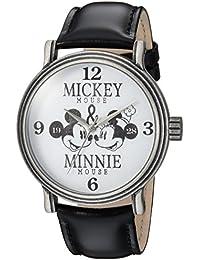 Disney Men's 'Mickey Mouse' Quartz Metal Casual Watch, Color Black (Model: WDS000336)