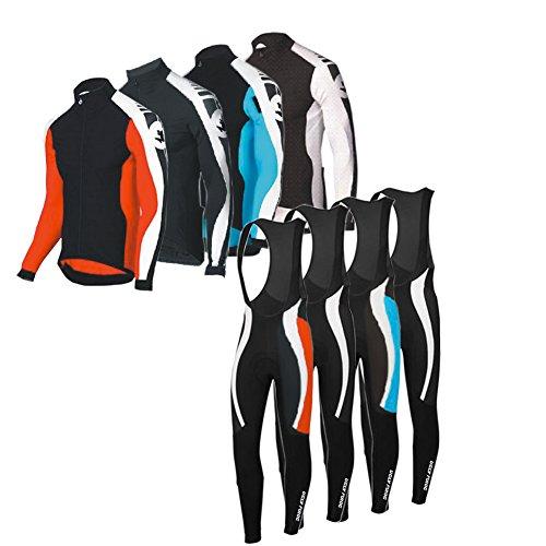 Uglyfrog Radsport Anzüge Herren Long Trikots + Lange Bib Hosen Gel Pad Frühling/Herbst Triathlon Clothes Atmungsaktiv Schnell trocknend Stoff - Herren Rs Fahrrad Short