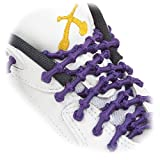 XTENEX - X300 Purple 20 (PATENTED) Adjustable Eyelet Blocking No Tie Elastic Shoe Laces for an Extreme Lock In Performance Fit