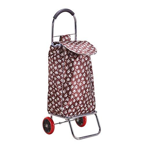 DELLT- Handwagen klappbar Einkaufswagen Kleinwagen Portable Zugstange Auto Handgepäckwagen Kleiner Anhänger Älterer Trolley Handwagen Inklusive Taschen Beladung 30 kg (Farbe : #2)