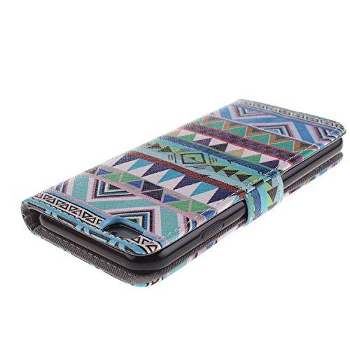 Ooboom® iPhone 5SE Hülle Flip PU Leder Schutzhülle Handy Tasche Case Cover Wallet Standfunktion mit Kartenfächer Magnetverschluss für iPhone 5SE - Formel Böhmischen Stil