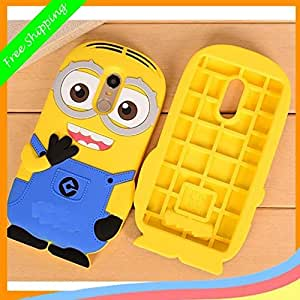 Dcent 3D Cartoon Minion Soft Rubber Silicone Back Case Cover For Motorola Moto G4 Plus -Yellow