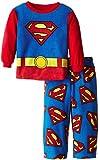 Superman DC Comics Fleece Schlafanzug für Kleine Jungen Gr. Medium, blau