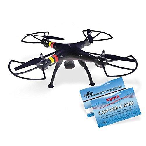 Preisvergleich Produktbild efaso Quadcopter Syma X8C - 2,4 GHz 4-Kanal Quadrocopter mit 3 MP Weitwinkel-HD-Kamera, Headless Mode, Rotorschutz, LED-Beleuchtung, 6-Achsen-Gyro und Flip-Funktion (schwarz)