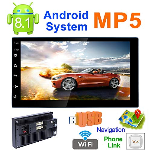 8.1 Touch-Screen Double Din Car Radio Stereo Audio MP5 Player Support Mirror Link/WiFi/Bluetooth/GPS/FM Car MP5 Player ()