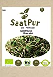 SaatPur Bio Keimsprossen - Keimsaat für Salatrauke Rauke Sprossen, Microgreens - 75g