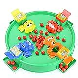 Giocattolo per Bambini Giocattoli educativi per Bambini Alimentazione di Piccole Rane Mangiare Fagioli Rane Perle afferranti Giochi da Tavolo interattivi Genitore-Figlio