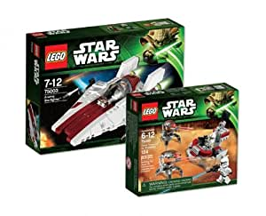 LEGO Star Wars 75003 A-Wing Starfighter et 75000 Clone Trooper vs. Droidekas 9120055080527