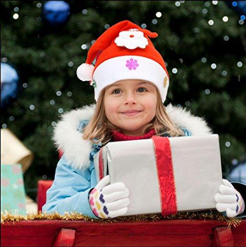 ZHUDJ Weihnachtsbaumschmuck Kinder Gold Schneemann Samt Mütze Festliches Rot Santa Claus Hüte, Schneemann Hut