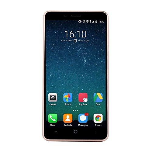"Leagoo Elite 5 Lite (KIICAA POWER) - 5,0"" 3G Smartphone, Android 7.0 Quad Core 2GB+16GB, Cámaras Traseras Duales 5MP+8MP, 4000mAh, SIM Dual, Huella Digital Desbloqueado Teléfono Móvil, Oro"