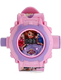 Shanti Enterprises Combo Sports Watch Multi Color Dial For Kids And Sofia 24 Images Projector Watch