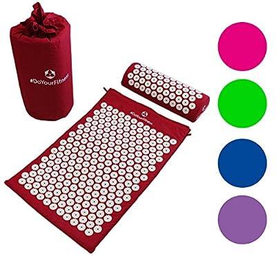 Akupressur-Set »JimutaÂ« / Tasche + Matte + Kissen / Akupressur- und Massagematte zur effektiven Lockerung und Lösung von Verspannungen / in verschiedenen fröhlichen Farben erhältlich.