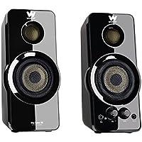 Woxter Big Bass 95 - Altavoces multimedia 2.0 (20 W) con botones frontales de control de sonido, color negro