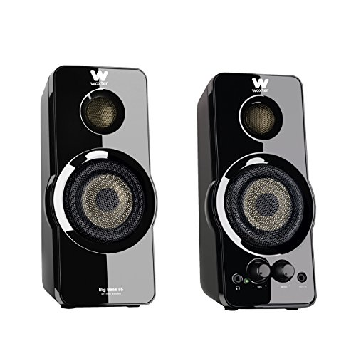 Woxter Big Bass 95 - Altavoces multimedia 2.0 (20 W), color negro