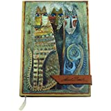 Premium Paper Laurel Burch Hard Cover Single Ruled Diary Notebook - 12 cm x 17 cm, 160 Pages (Grey)