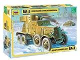 Zvezda 500783546 500783546-1:35 BA-3 WA-Plastikbausatz-Modellbausatz-Zusammenbauen-Bausatz-für Einsteiger-detailliert, Olive