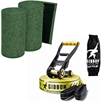 "SLACKWEAR Slackline Set with ""SafetyTree"" Tree Protection Green + Classic Line X13 from Gibbon Slacklines"