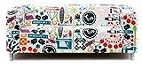 Artefly Klippan Sofabezug Design TIME FLIES mit Kissen Bezug passend für Ikea Klippan Zweisitzer