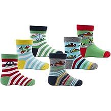 Zest Baby Boys Transporte & Mar caracteres calcetines de algodón