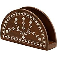 Sale on Napkin Holder - Cyber Monday Deals 2016 - SouvNear Wooden Napkin Holder with Petal Appliques - Letter Holder / Envelope Holder - Decorative Table Centre piece