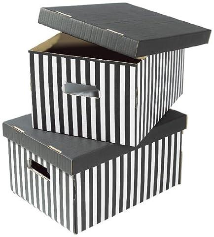 Compactor Home RAN613 Lot de 2 Boîtes Shirt Noir