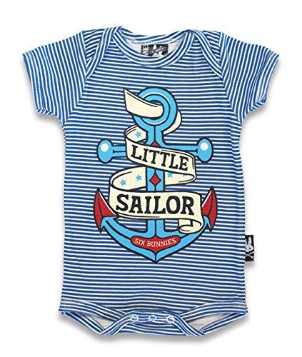 SIX Bunnies Baby body-Little Sailor-Tutina da marinaio Blu blu 6-12 mesi
