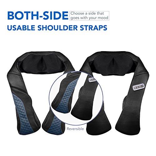 MaxKare Appareil de Massage Sans Fil Shiatsu Masseur Portable pour Dos, Cou, Nuque et Épaules 3D Rotation Bidirectionnelle avec Fonction de ... 6