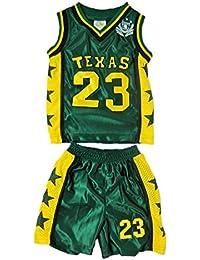 Fashion Oasis Enfants Basket-Ball Ensembles Hauts et Courts Métrages. Boston, Chicago, Hawaii, Miami, New Jersey, New York, Olympia, Santa Fe, Texas Ages 6 mois à 12 ans