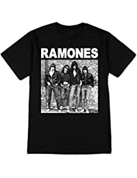 Ramones - - 1 ª Masculina Álbum de manga corta T-Shirt En Negro
