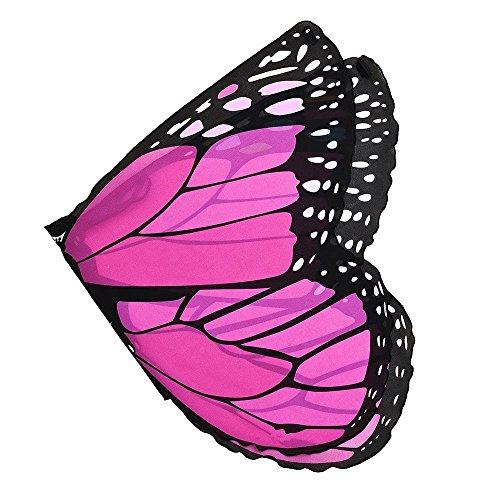 OVERDOSE Kind Kinder Jungen Mädchen Karneval Kostüm schmetterlingsflügel Kostüm Faschingskostüme Butterfly Wing Cape Kimono Flügel Schal Cape Tuch (Kostüm Für Jungen Und Mädchen)