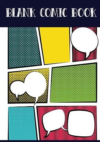 Blank Comic Book Panelbook - 7 Panel ,5 Speech Bubble 7