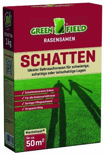 Greenfield 62070 Schattenrasen Rasensamen 1 kg für ca. 50 qm