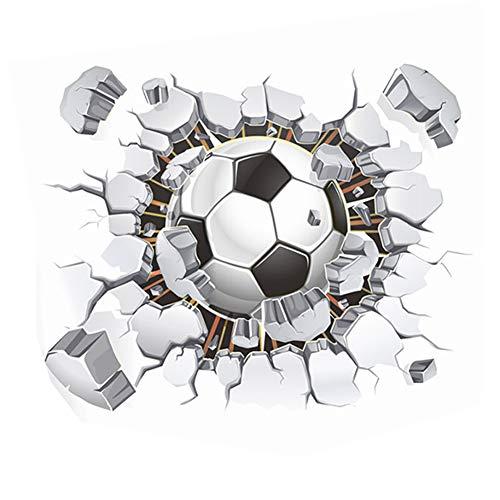 Chytaii.Creativo Pegatina De Pared Adolescente Dormitorio Mural Decoracion Habitacion Niño Autoadhesivo Fotomural Pared De Futbol(40x50cm)