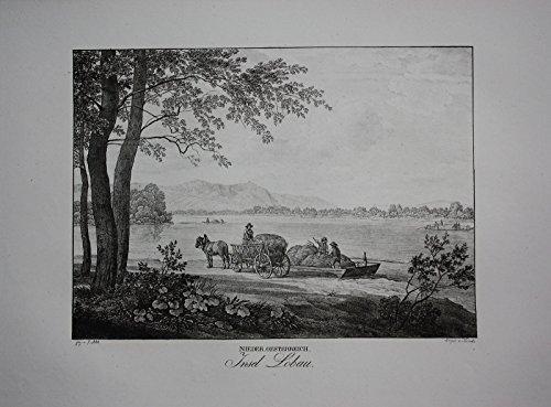 Lobau Wien Insel Original Lithographie Kunike
