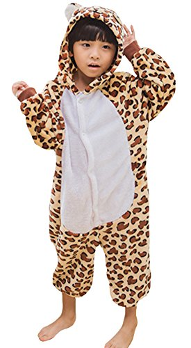 amas Leopard Bär Cosplay Flanell Kostüm Unisex Jumpsuit (Date-halloween-kostüme)