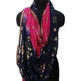 dupatta indio georgette de la cosecha tejido hecho a mano bordada pareo hijab envoltura usados robó dupatta de novia velo azul decoración
