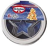 Dr. Oetker 2186 6 Ausstecher Sterne in einer Dose