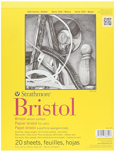 wandbild-papier-strathmore-bristol-pergamentpapier-pad-9-zoll-x-12-zoll-20-blatt